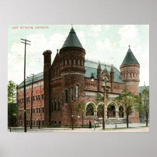 Art Museum Detroit 1907 Vintage Poster