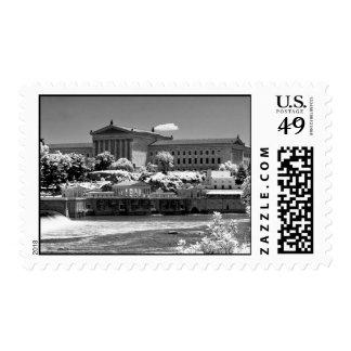 Art Museum & Waterworks - IR Postage