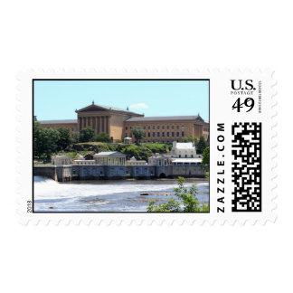 Art Museum & Waterworks Postage Stamps