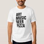 ART MUSIC BEER PIZZA SHIRT