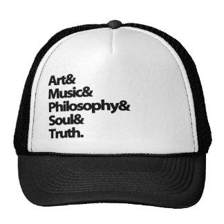 art music phylosophy mesh hats