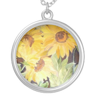 art neckless round pendant necklace