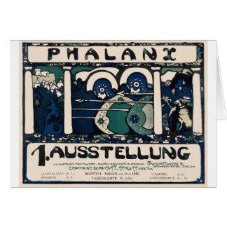 Art Neuveau German Phalanx Exhib Poster Card