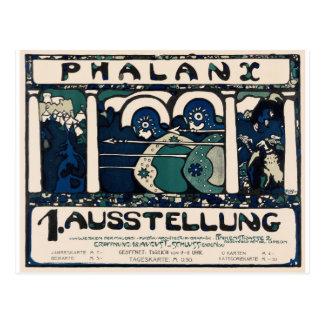 Art Neuveau German Phalanx Exhib Poster Postcard