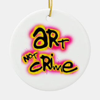 Art Not Crime Double-Sided Ceramic Round Christmas Ornament