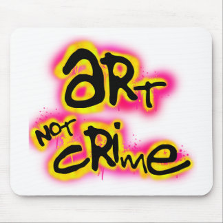 Art Not Crime Mouse Pad