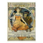 Art Nouveau 1904 World's Fair by Alphonse Mucha Poster