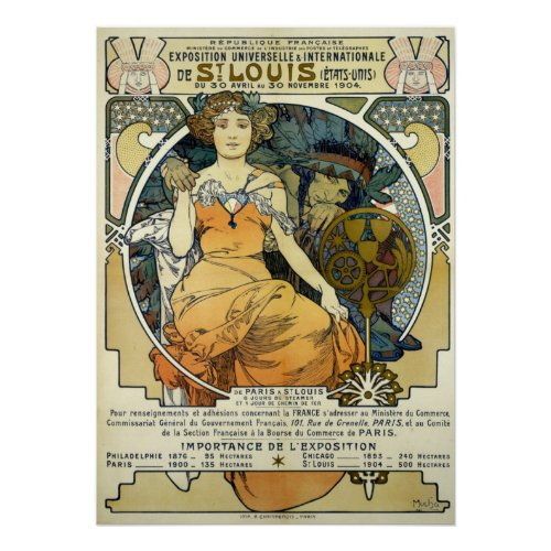 Art Nouveau 1904 World's Fair by Alphonse Mucha