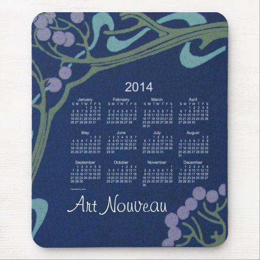 Art Nouveau 2014 Calendar Mouse Pad