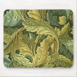 """Art Nouveau Acanthus Leaf Mousepad<br><div class=""""desc"""">A reproduced detail of a vintage,  19th C. design by William Morris.  Acanthus leaves in shades of green and gold.</div>"""