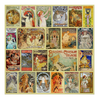 Art Nouveau Advertisements Poster