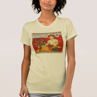 Art Nouveau Alfons Mucha,  British bicycles ad T-shirts