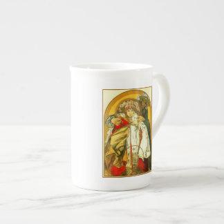 Art Nouveau Alfons Mucha Czech republic birthday Tea Cup