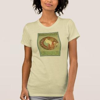 Art Nouveau Alfons Mucha, model Laurel T-Shirt