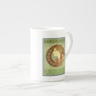 Art Nouveau Alfons Mucha, model Laurel Tea Cup