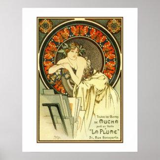 Art Nouveau Alfons Mucha, portfolio ad Poster
