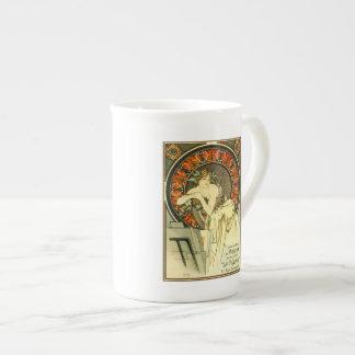 Art Nouveau Alfons Mucha,  portfolio ad Bone China Mug