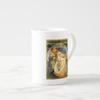 Art Nouveau Alfons Mucha Princess Hyacinth Tea Cup