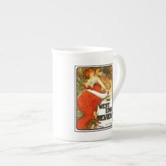 Art Nouveau Alfons Mucha, UK magazine ad Bone China Mug