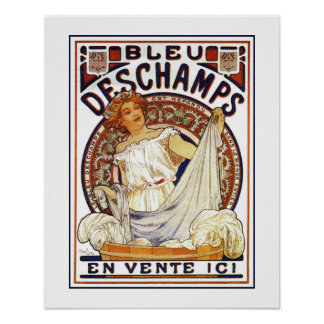 Art Nouveau Alfons Mucha,  washing product ad Poster