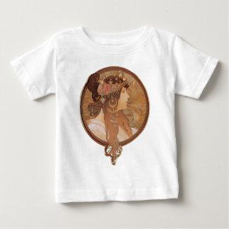 Art Nouveau - Alphonse Mucha Byzantine Head Baby T-Shirt