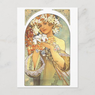 http://rlv.zcache.com/art_nouveau_alphonse_mucha_flower_postcard-p239423353619305435z85wg_400.jpg
