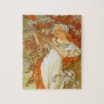 Art Nouveau Alphonse Mucha Spring Puzzle