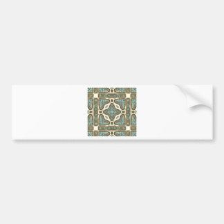 Art Nouveau Alphonse Mucha Vintage Feather Bumper Sticker