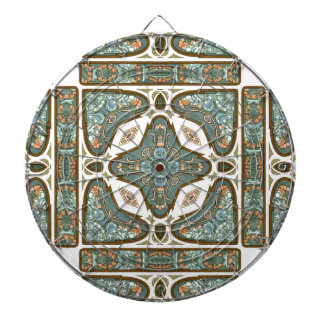 Art Nouveau Alphonse Mucha Vintage Feather Dart Boards