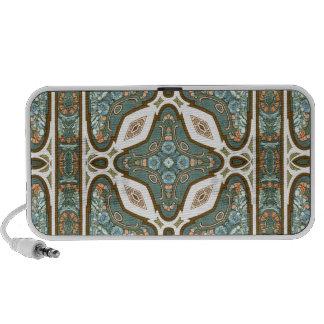 Art Nouveau Alphonse Mucha Vintage Feather Travel Speakers