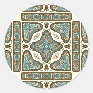 Art Nouveau Alphonse Mucha Vintage Feather Stickers