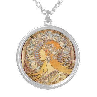 Art Nouveau Alphonse Mucha Zodiac Necklace