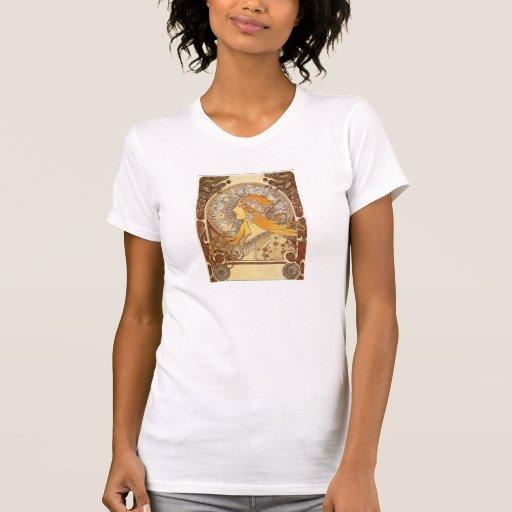 Art Nouveau Alphonse Mucha Zodiac T-shirt