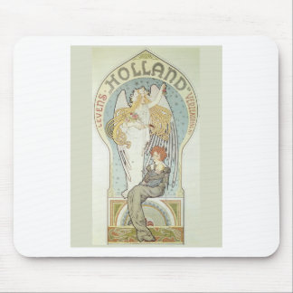 Art Nouveau Angel and Mother Mouse Pad