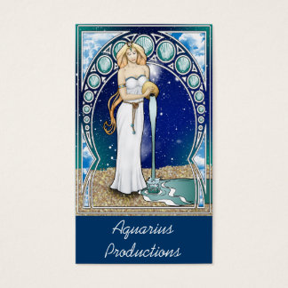 Art Nouveau Aquarius Business Card