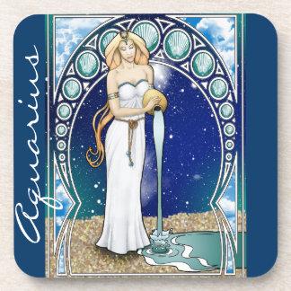 Art Nouveau Aquarius Coaster