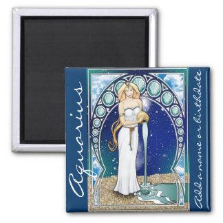 Art Nouveau Aquarius Magnet