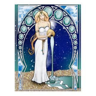 Art Nouveau Aquarius Postcard
