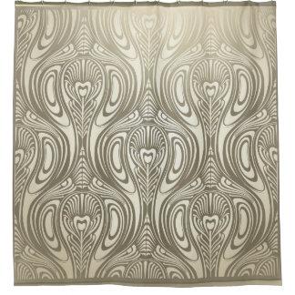 vintage chic art nouveau deco shower curtains | zazzle