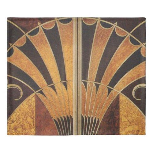 art Nouveau,art deco, vintage, multi wood colours, Duvet Cover