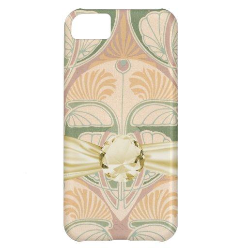 art nouveau art deco vintage pattern iPhone 5C cases