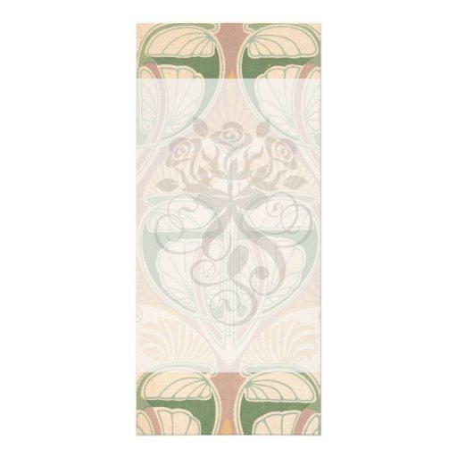 art nouveau art deco vintage pattern custom rack card