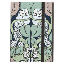 Art Nouveau Arts and Crafts Owls Nest Pattern Cover For iPad Air