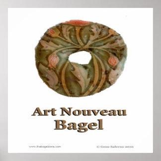 Art Nouveau Bagel Poster