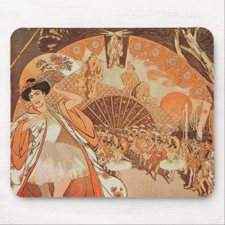 Art Nouveau Ballet Steinlen Reve Japanese Dance Mouse Pad