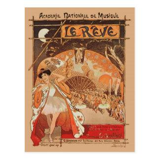 Art Nouveau Ballet Steinlen Reve Japanese Dance Postcard