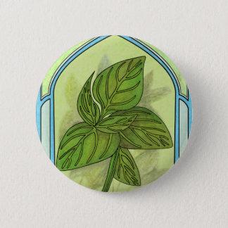 Art nouveau. Basil. Pinback Button