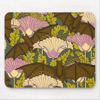 Art Nouveau Bats and Flowers Mouse Pad
