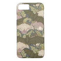Art Nouveau Bats and Lillies iPhone 8/7 Case