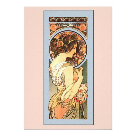 Art Nouveau Beautiful Bride Wedding Invitation